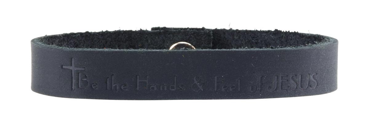 Black Be the Hands and Feet of JESUS bracelet