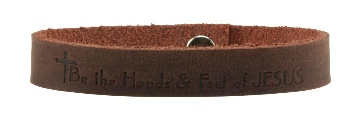 Brown Be the Hands and Feet of JESUS bracelet