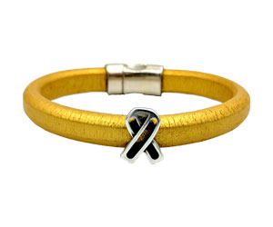 Go Gold for Childhood Cancer bracelet