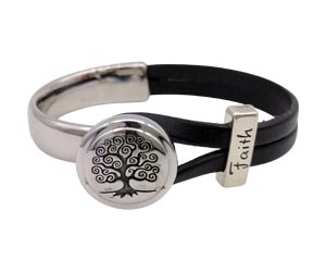 Tree of Life half cuff bracelet with a silver Faith slider