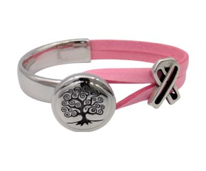 Tree of Life half cuff with an Open Awareness Ribbon