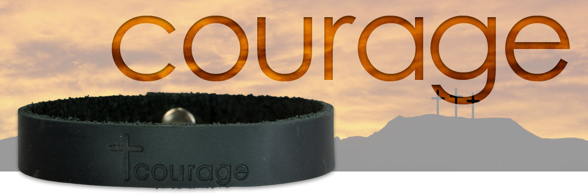 courage leather bracelet