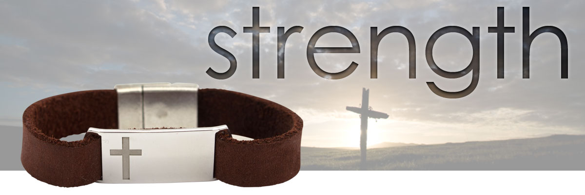 cross sterling silver and leather bracelet